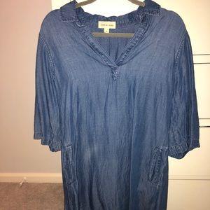 Cloth & Stone Blue Tunic Dress